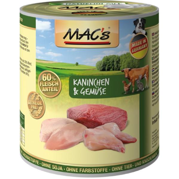 Macs Dog masová konzerva pro psy (králičí se zeleninou) Balení: 400 g