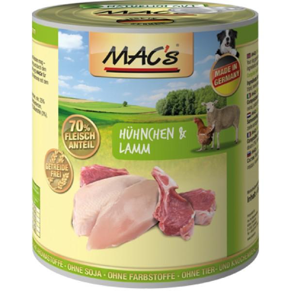 Macs Dog masová konzerva pro psy (kuřecí a jehněčí) Balení: 800 g