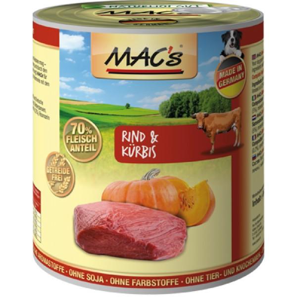 Macs Dog masová konzerva pro psy (hovězí s dýní) Balení: 400 g