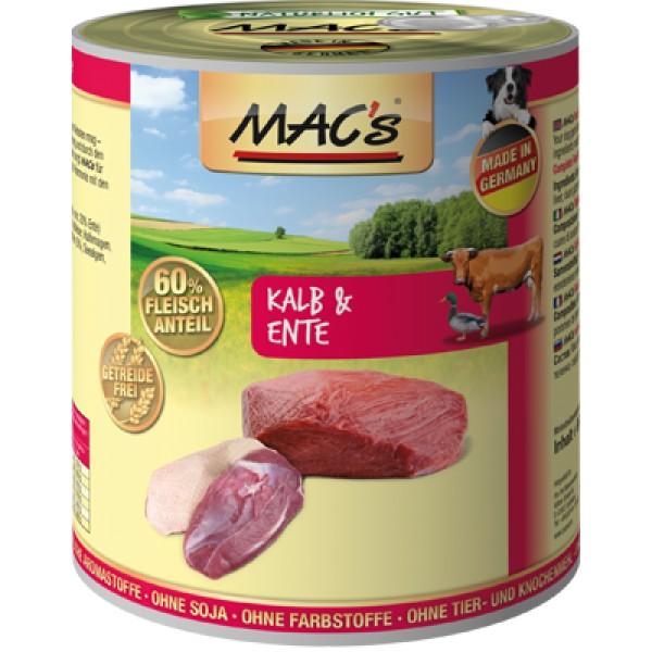 Macs Dog masová konzerva pro psy (telecí a kachní) Balení: 800 g