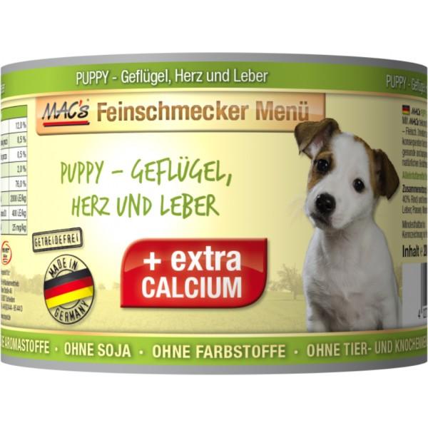 Macs Dog Fajnšmekr masová konzerva pro štěňata (drůbeží, srdce a játra) Balení: 1,2 kg