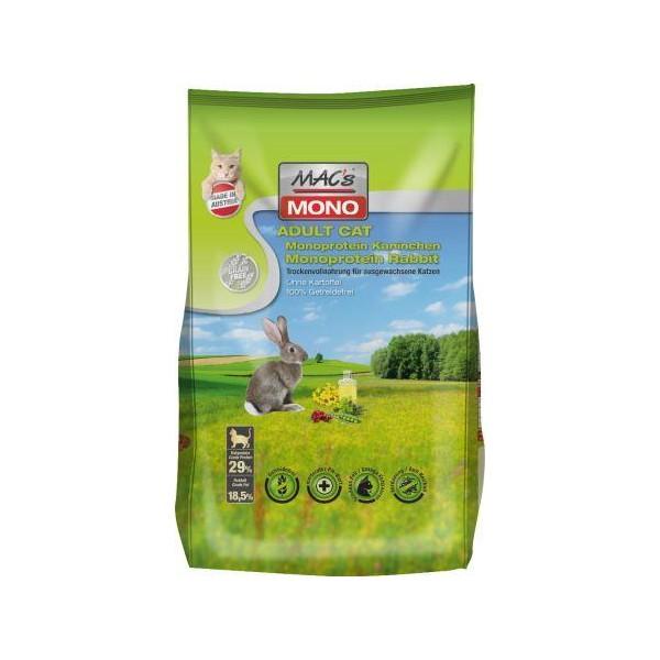 Macs Dry Cat Mono bezobilné krmivo pro citlivé kočky (králičí) 1,5 kg