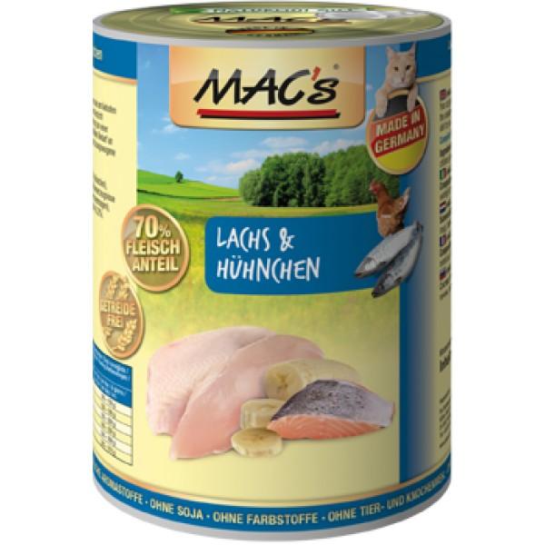 Macs Cat masová konzerva pro kočky (losos a kuřecí) Balení: 800 g
