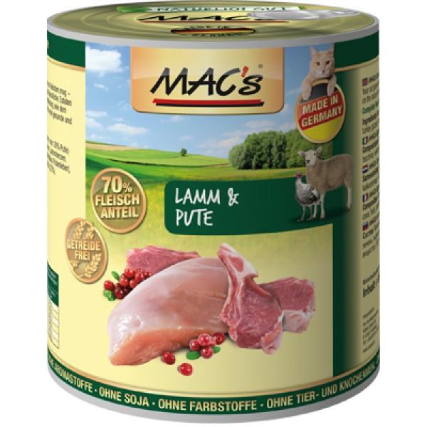 Macs Cat masová konzerva pro kočky (jehněčí a krůtí) Balení: 800 g