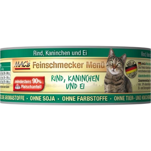 Macs Cat Fajnšmekr masová konzerva pro kočky (hovězí a králičí) Balení: 100 g