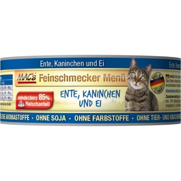 Macs Cat Fajnšmekr masová konzerva pro kočky (kachní a králičí) Balení: 600 g