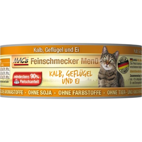 Macs Cat Fajnšmekr masová konzerva pro kočky (telecí a drůbeží) Balení: 600 g