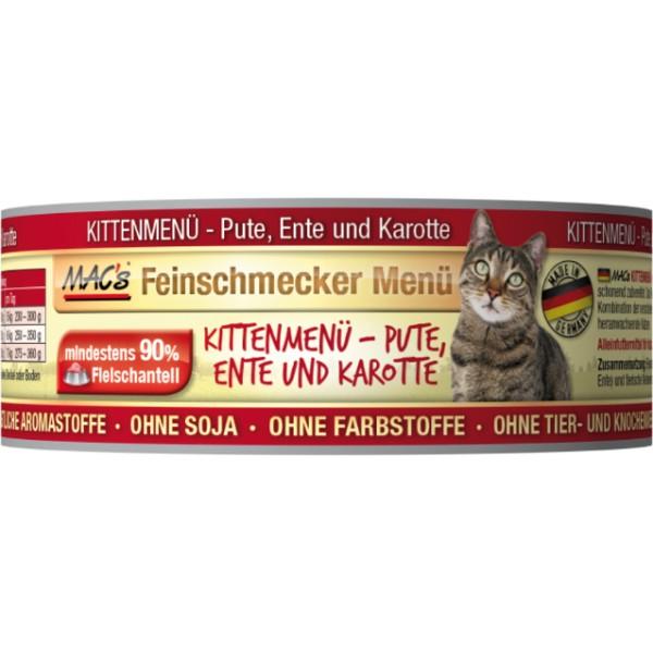 Macs Cat Fajnšmekr masová konzerva pro koťata (kachní s mrkví) Balení: 100 g