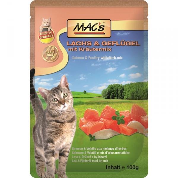 Macs Cat masová kapsička pro kočky (losos a drůbeží s bylinkami) Balení: 1,2 kg