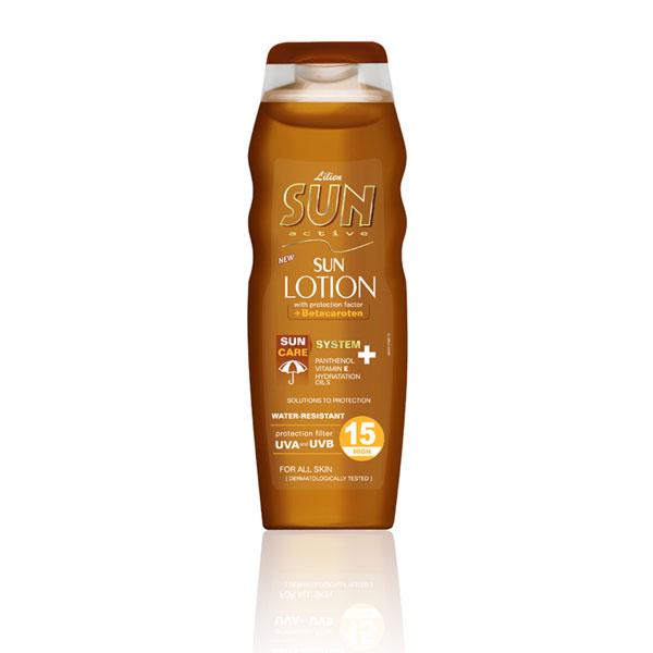 Lilien Sun Active opalovací mléko SPF 15 200 ml