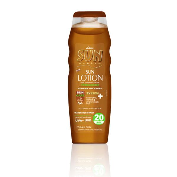 Lilien Sun Active opalovací mléko SPF 20 200 ml