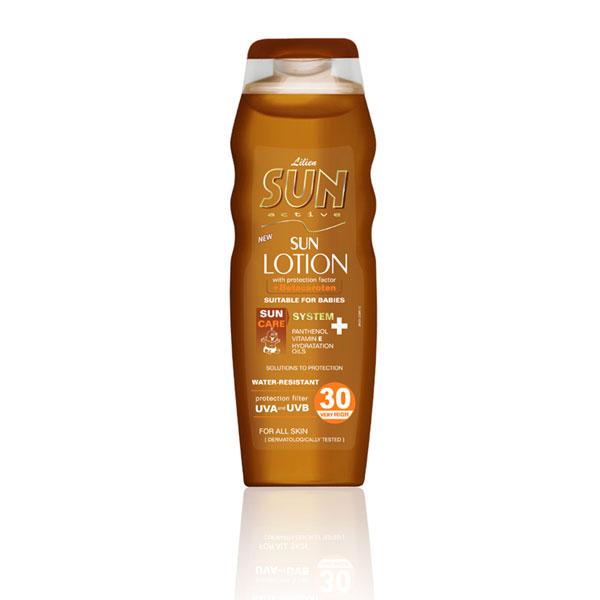 Lilien Sun Active opalovací mléko SPF 30 200 ml
