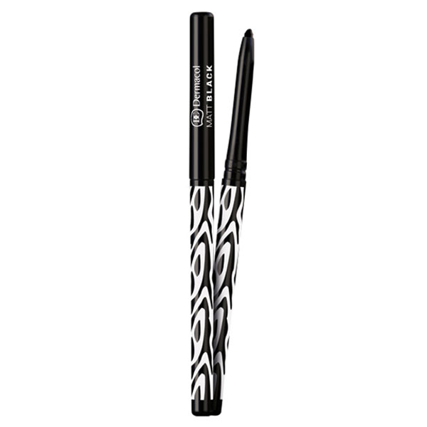 Dermacol Black Sensation Automatická matná tužka na oči černá (Matt Black Eyeliner) 0,35 g