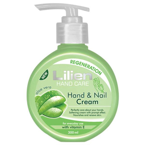 Lilien Hand Care Krém na ruce a nehty Aloe Vera 300 ml