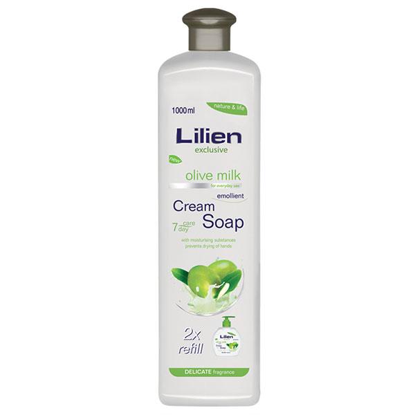 Lilien Exclusive Náhradní náplň pro krémové tekuté mýdlo Olive Milk 1000 ml