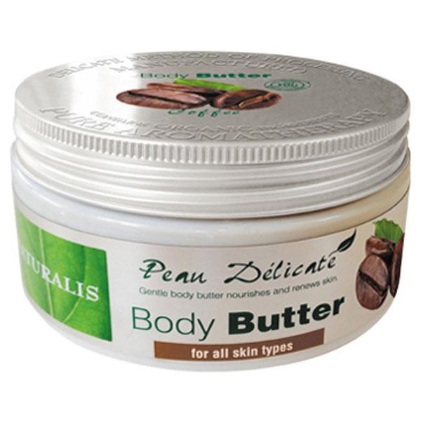 Naturalis Tělové máslo s kávovým extraktem 300 g