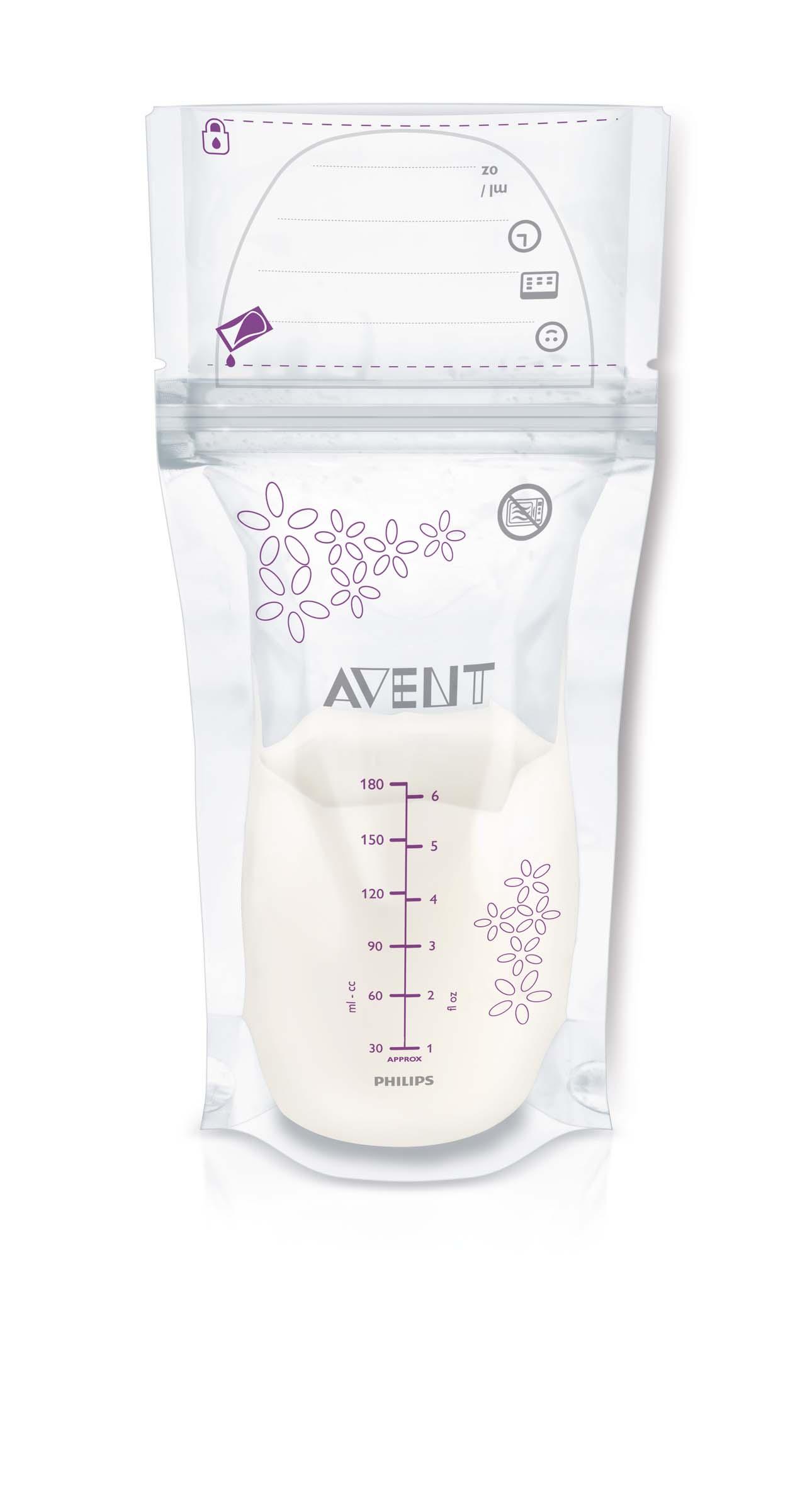 Philips Avent Sáčky na mateřské mléko 180 ml, 25 ks