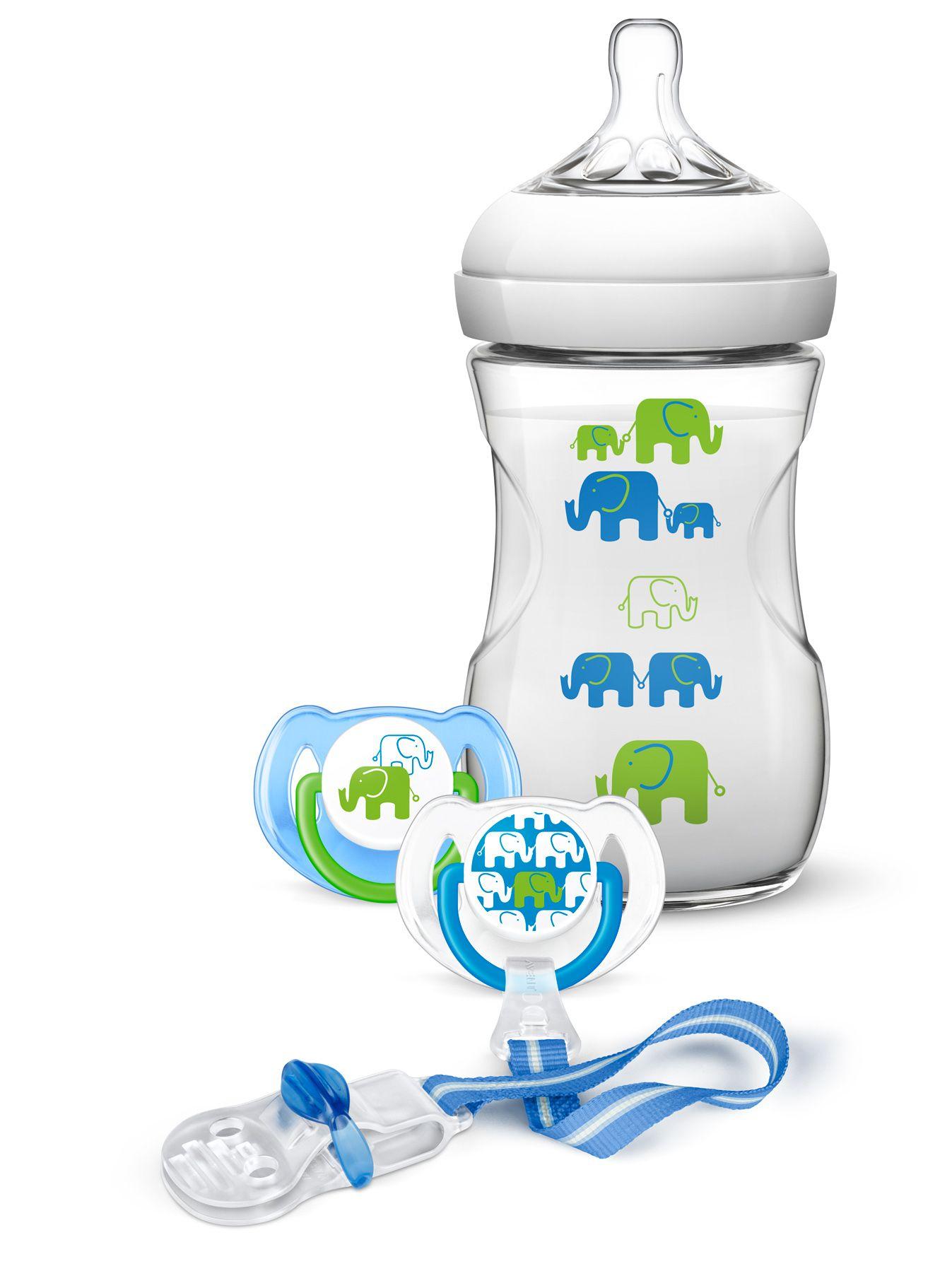 Philips Avent Sada Natural 260 ml Slon Varianta: chlapec