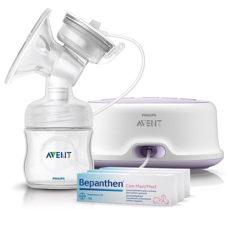Philips Avent Elektronická odsávačka mléka Natural + dárek Bepanthen 100 g