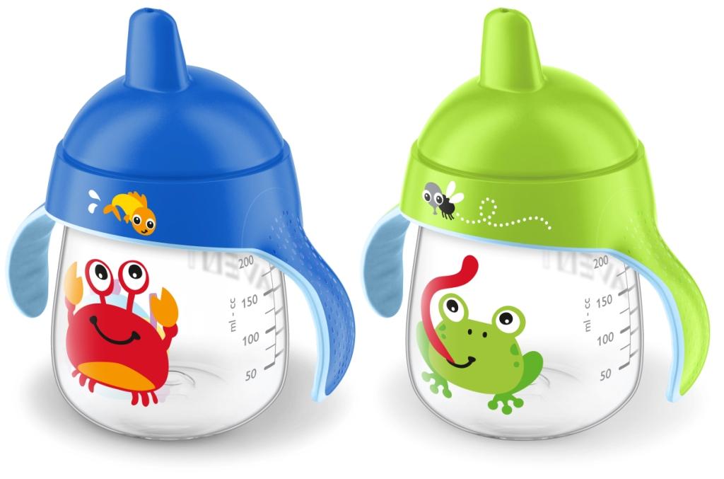 Philips Avent Hrneček pro první doušky Premium 260 ml Varianta: žába/krab