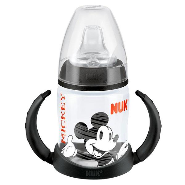 NUK First Choice láhev na učení PP, Disney Mickey, silikon, 150 ml Varianta: černá