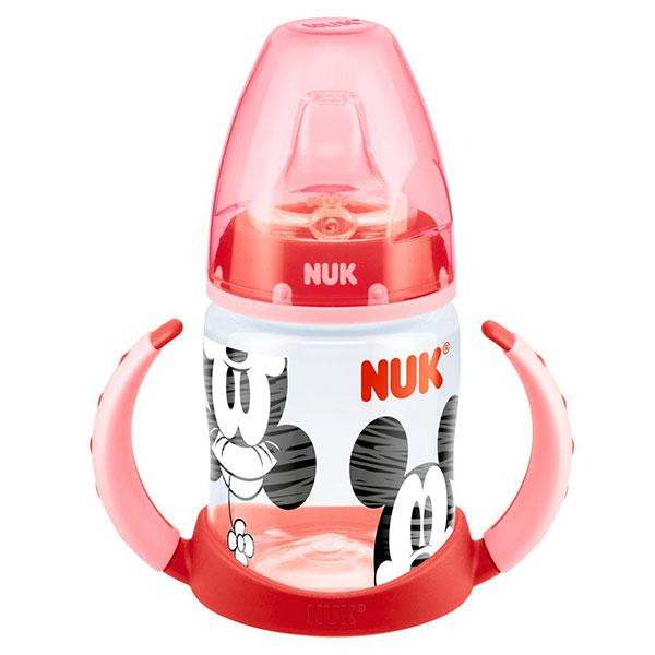 NUK First Choice láhev na učení PP, Disney Mickey, silikon, 150 ml Varianta: červená