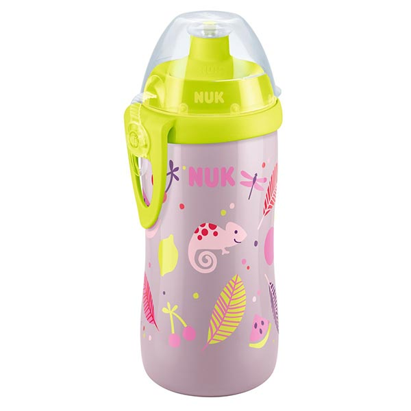 NUK First Choice láhev PP Junior Cup, push-pull pítko, 300 ml Varianta: růžovo-žlutá