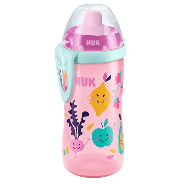 NUK First Choice láhev PP Flexi Cup, flexi pítko 300 ml Varianta: růžovo-modrá