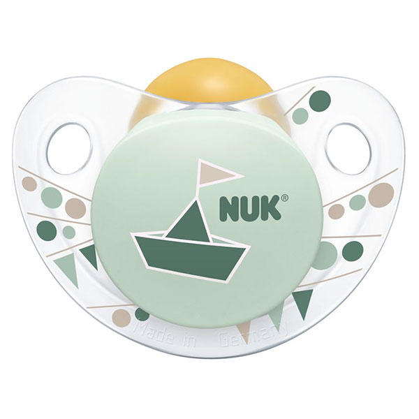 NUK Dudlík Trendline Adore, latex, vel. 1 (0-6m) Varianta: zelená