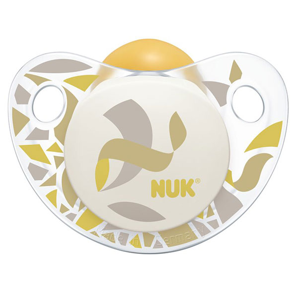 NUK Dudlík Trendline Adore, latex, vel. 1 (0-6m) Varianta: žlutá