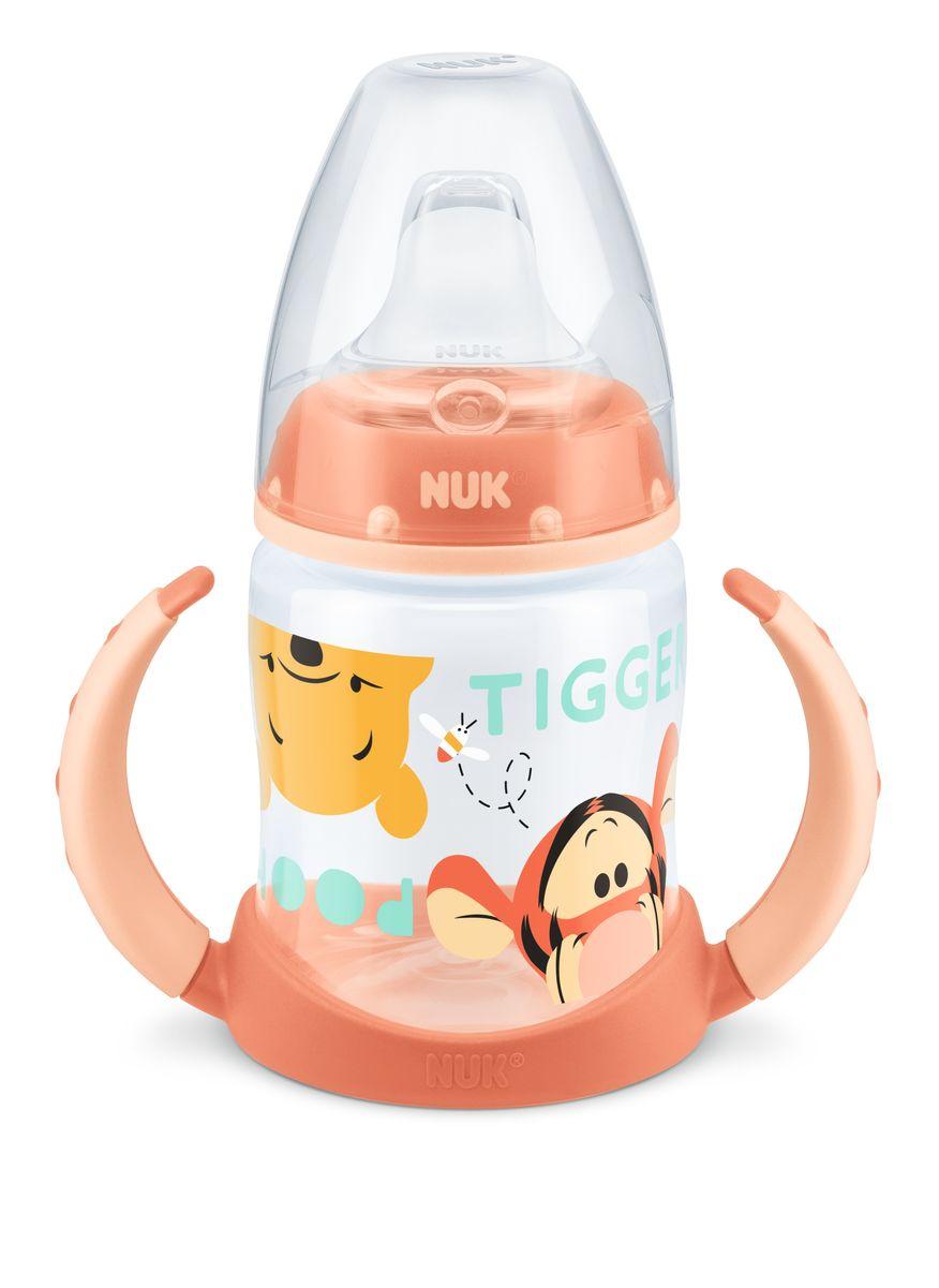 NUK First Choice lahvička na učení PP Disney Medvídek Pú, silikon, 150 ml Varianta: oranžová - hlavičky