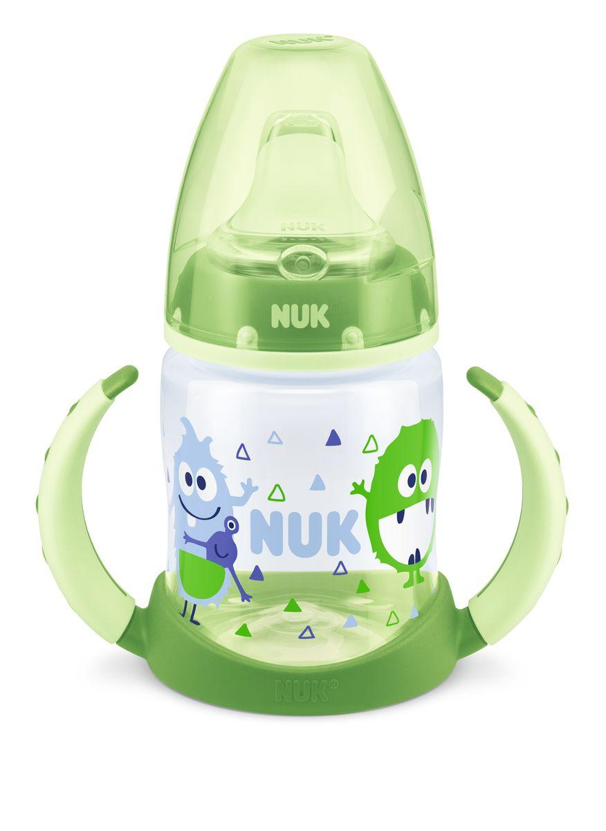 NUK First Choice lahvička na učení PP, silikon, 150 ml Barva: Zelená