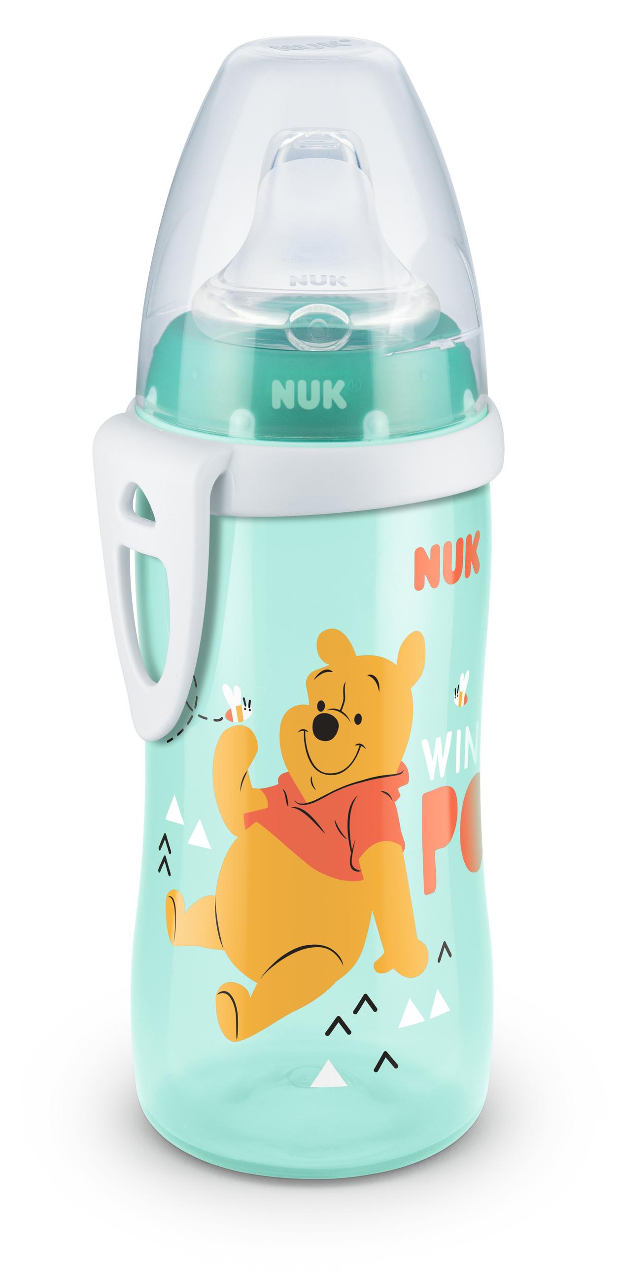 NUK First Choice láhev PP Active Cup Disney Medvídek Pú, silikon, 300 ml Varianta: tyrkysová