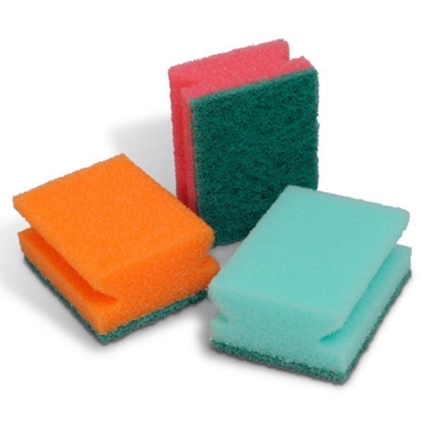 Spontex Houbičky na nádobí Color 2 ks +1 ks zdarma