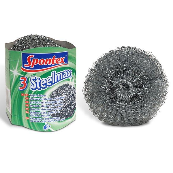 Spontex Drátěnka kovová Steelmax 3 ks