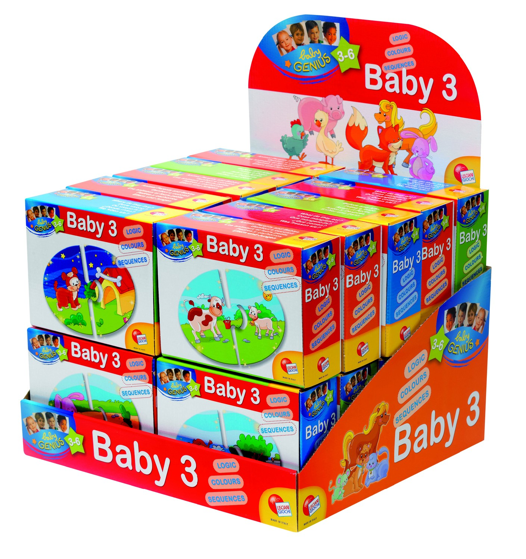 Baby Genius Baby Skládačka 3 v 1