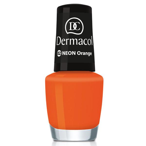 Dermacol Neonový lak na nehty č.2 - Neon Orange (Neon Nail Polish) 5 ml
