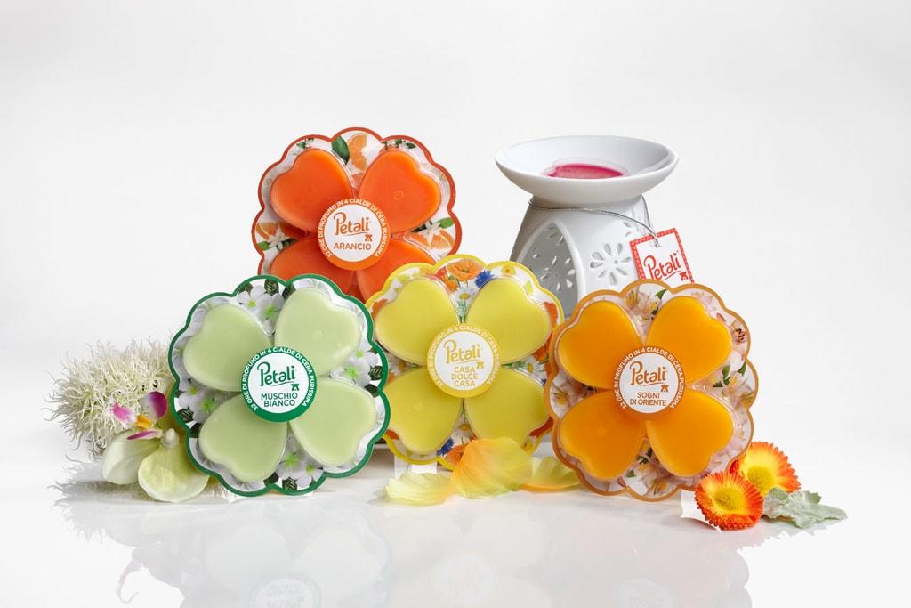 PETALI luxusní aromalampa+sada vosků a čajových svíček