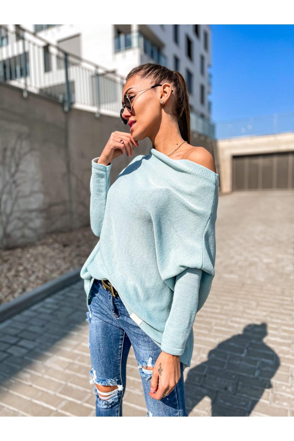 damsky svetr elene light mint eshopat cz 1