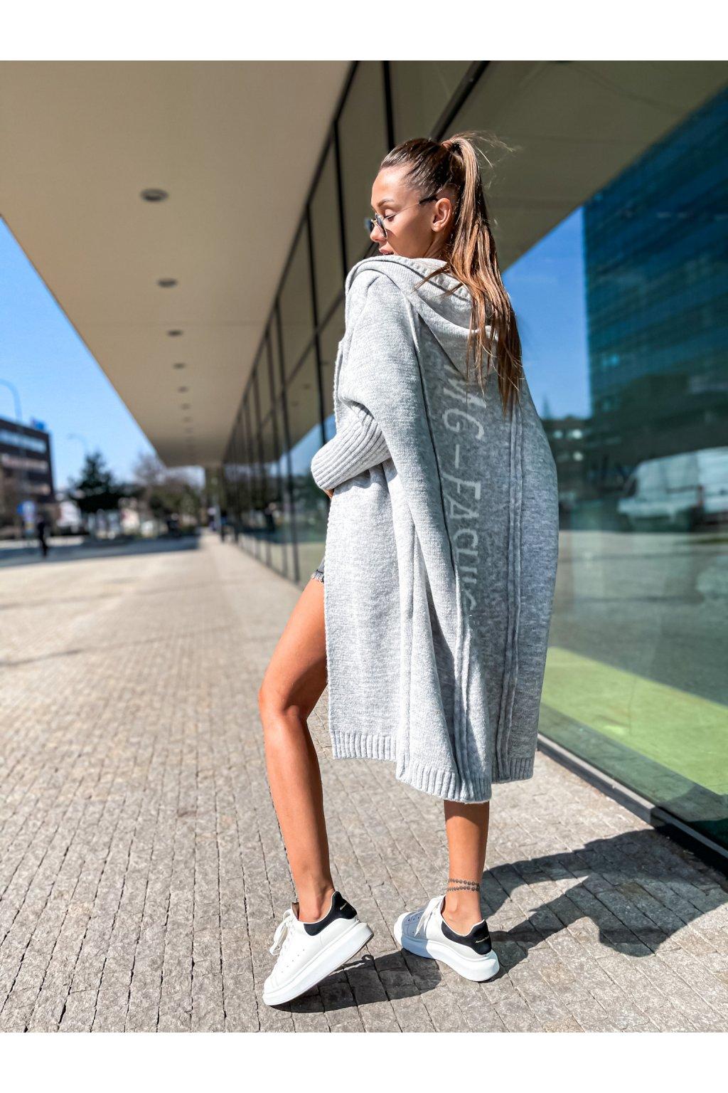 damsky cardigan fashion grey shopat cz 1