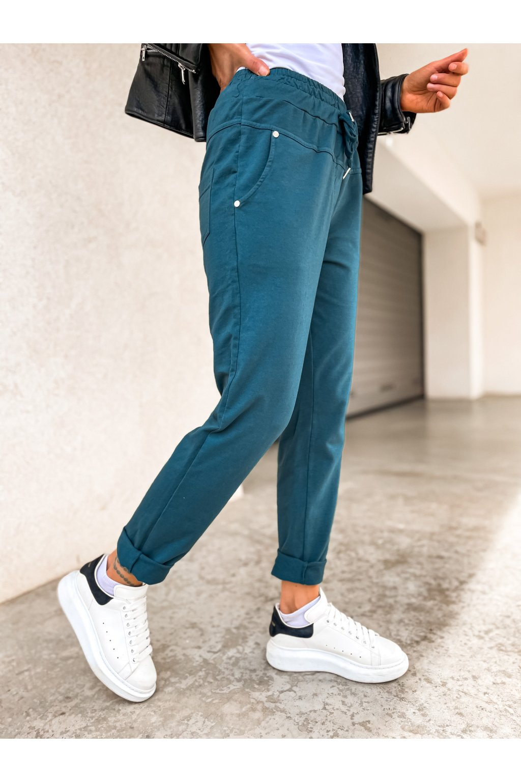 damske teplakove kalhoty pascall smaragd eshopat cz 1
