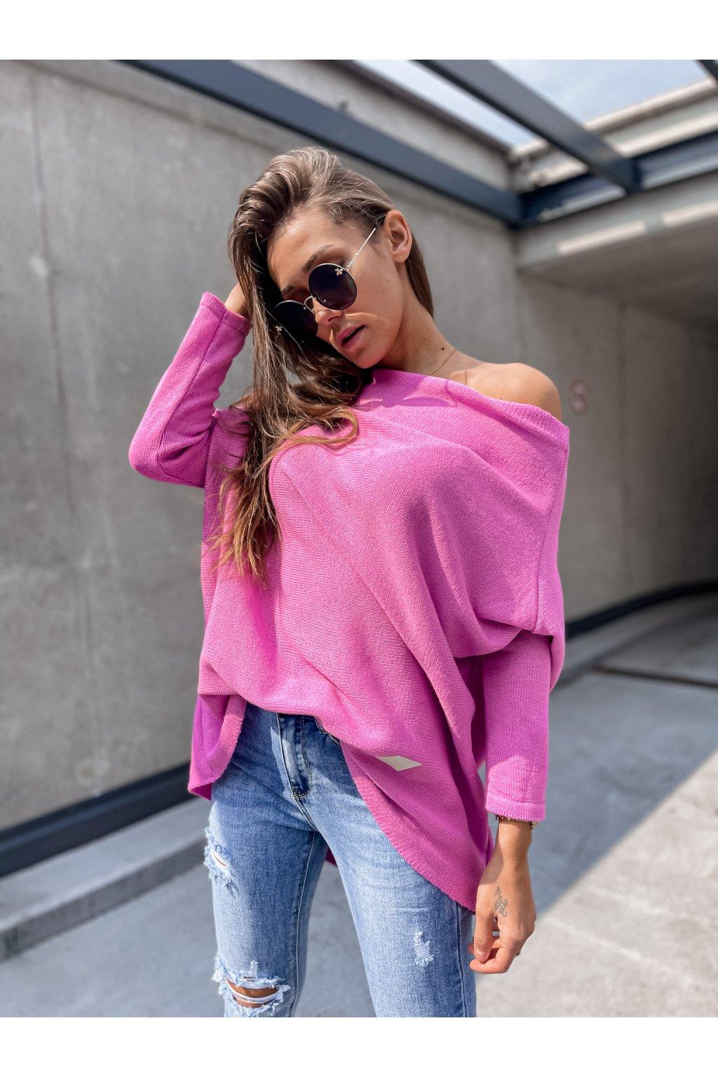 damsky svetr elene candy pink eshopat cz 1