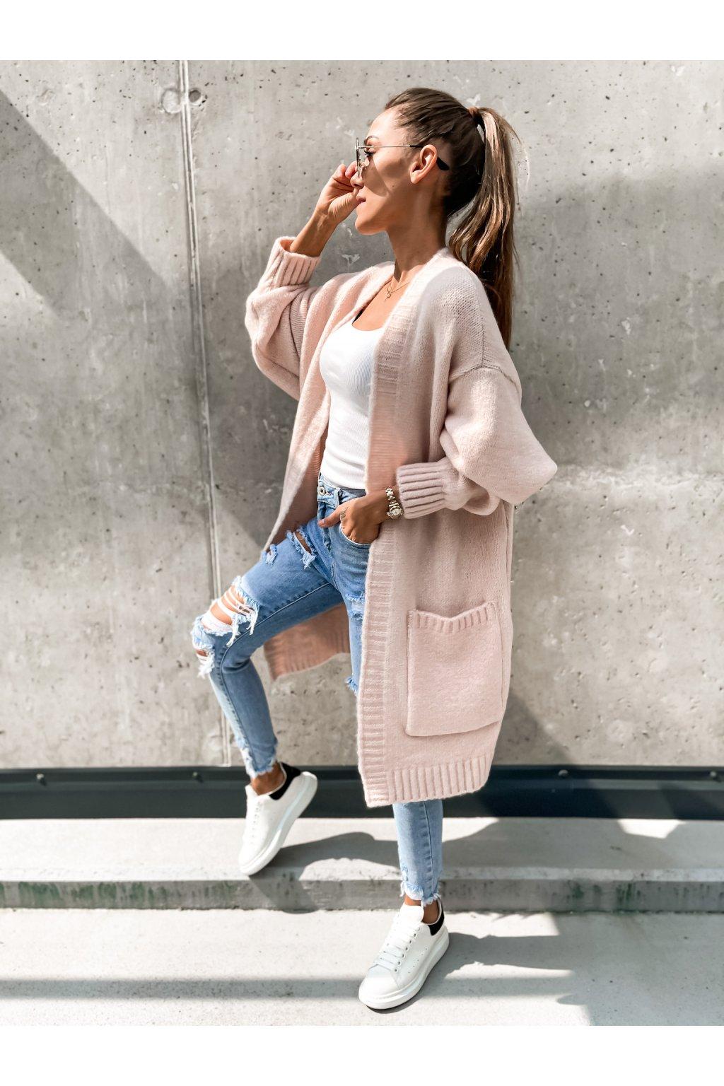 damsky cardigan stay light pink eshopat cz 1
