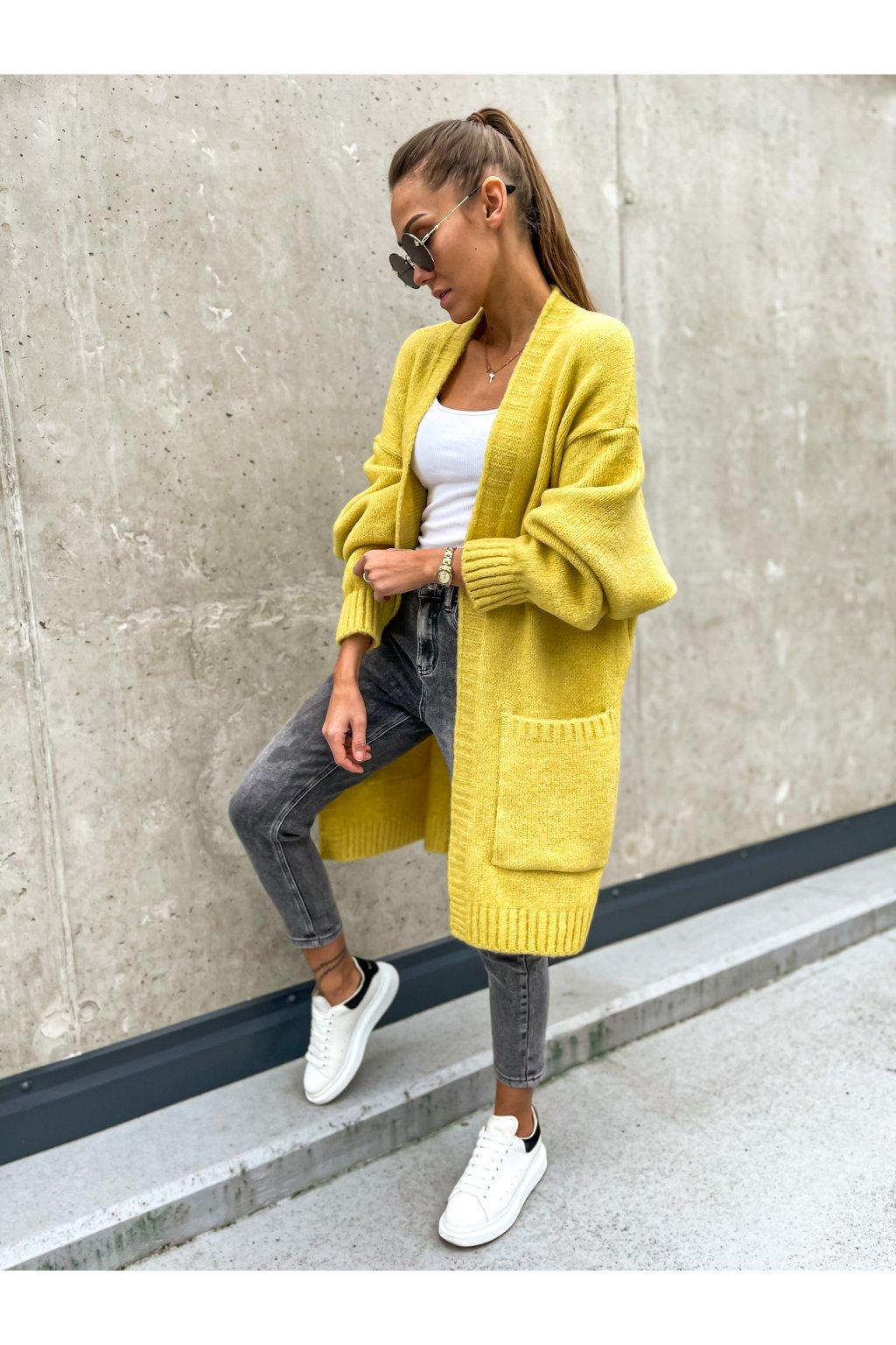 damsky cardigan stay yellow eshopat cz 6