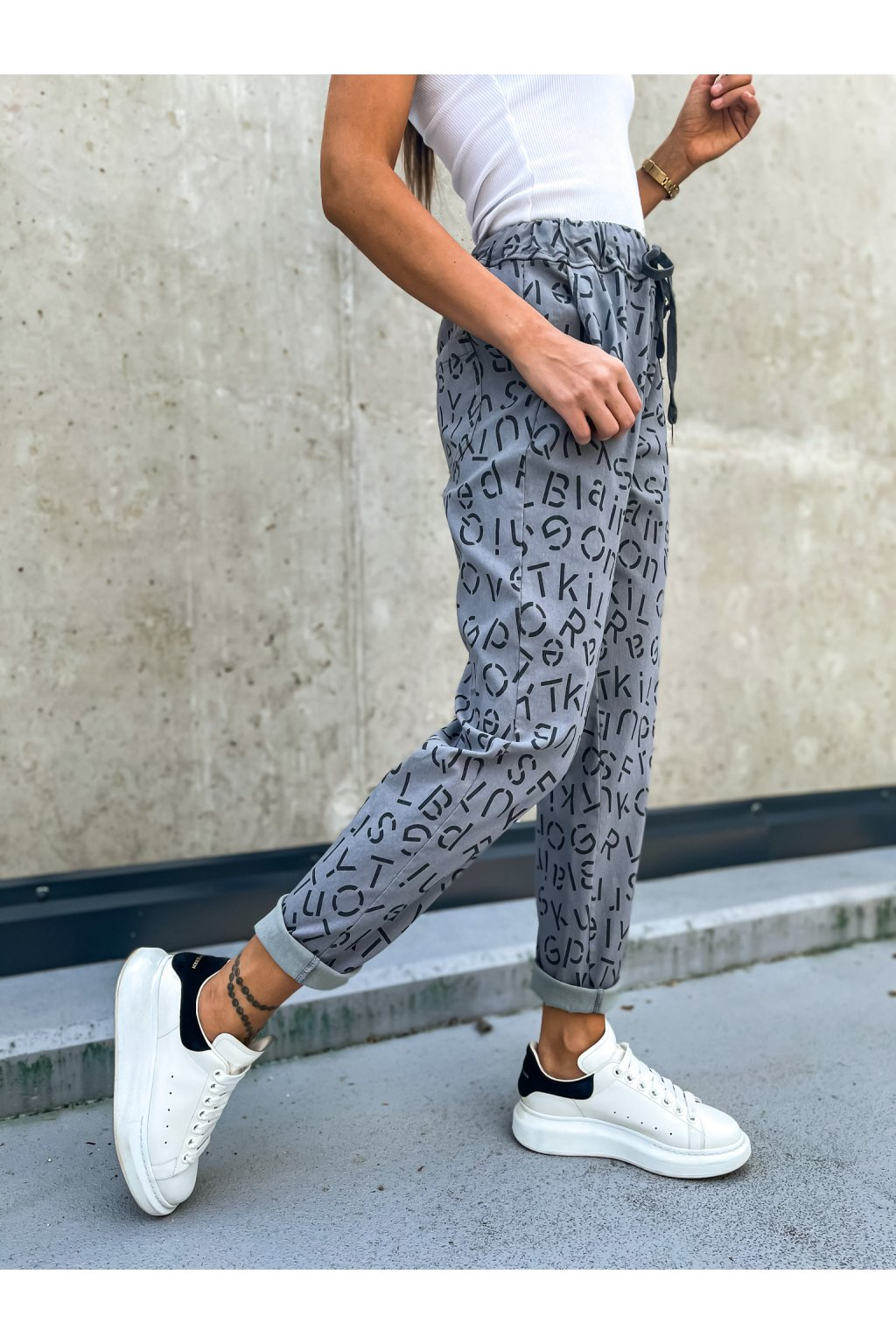 damske platene kalhoty letter dark grey eshopat cz 1