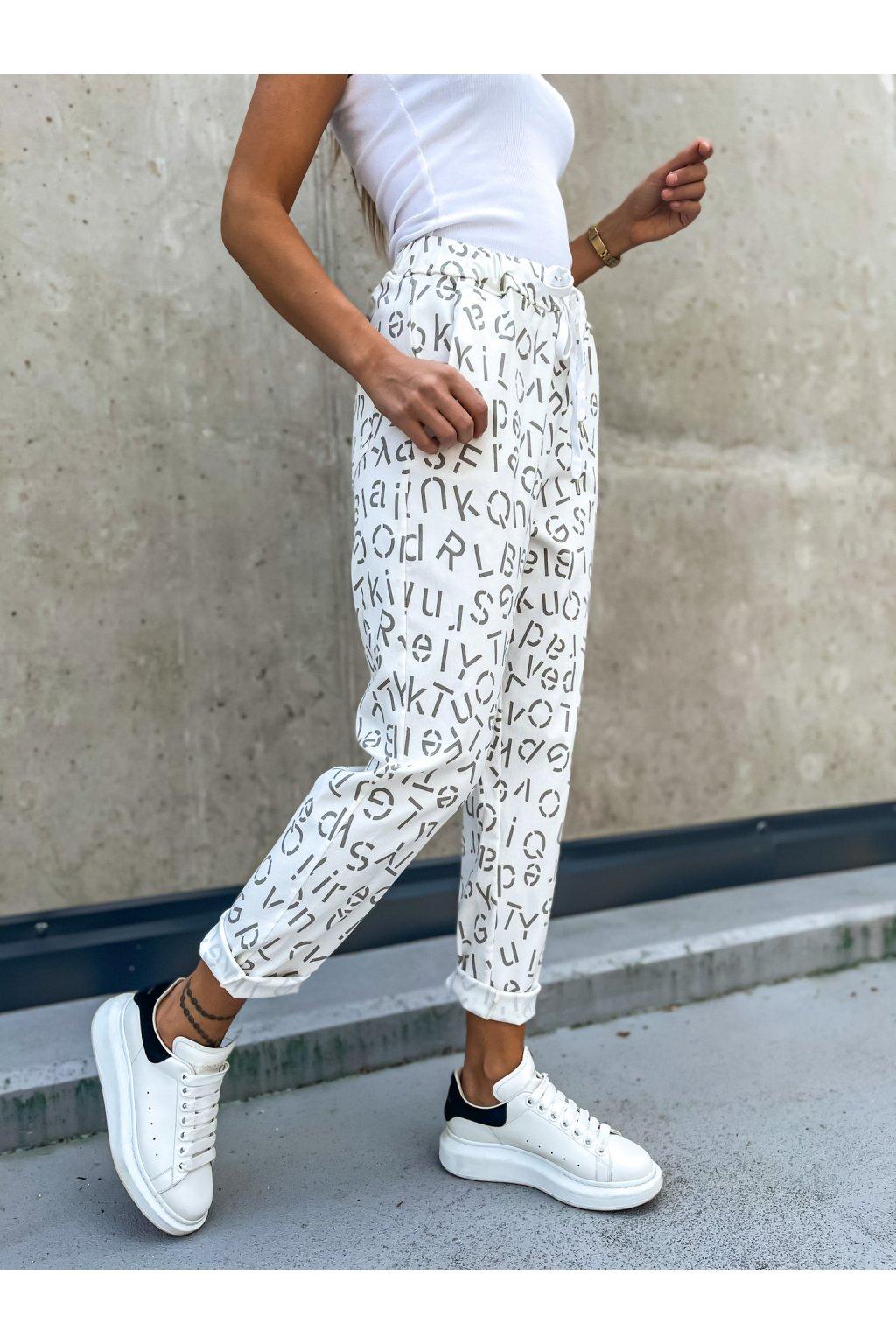 damske platene kalhoty letter white eshopat cz 3