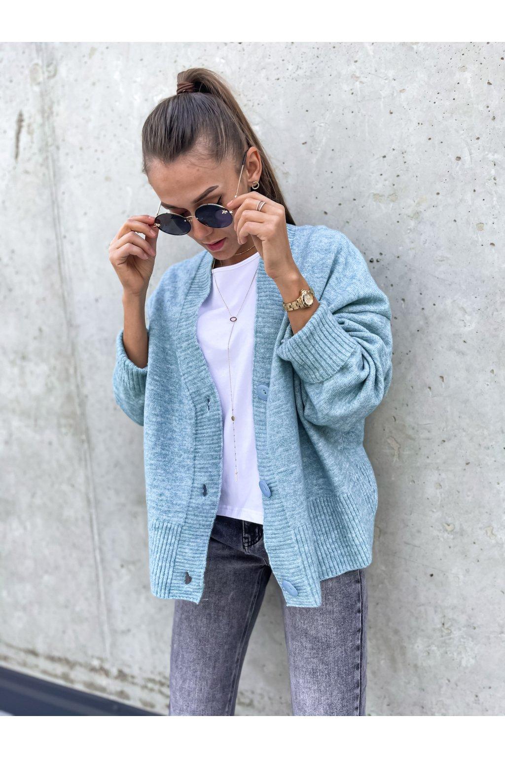 damsky svetr s knofliky ocean blue eshopat cz 1