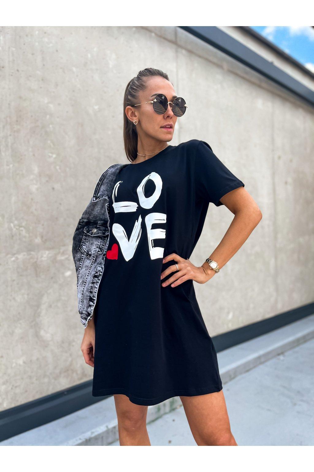 damske oversize saty love black eshopat cz 1