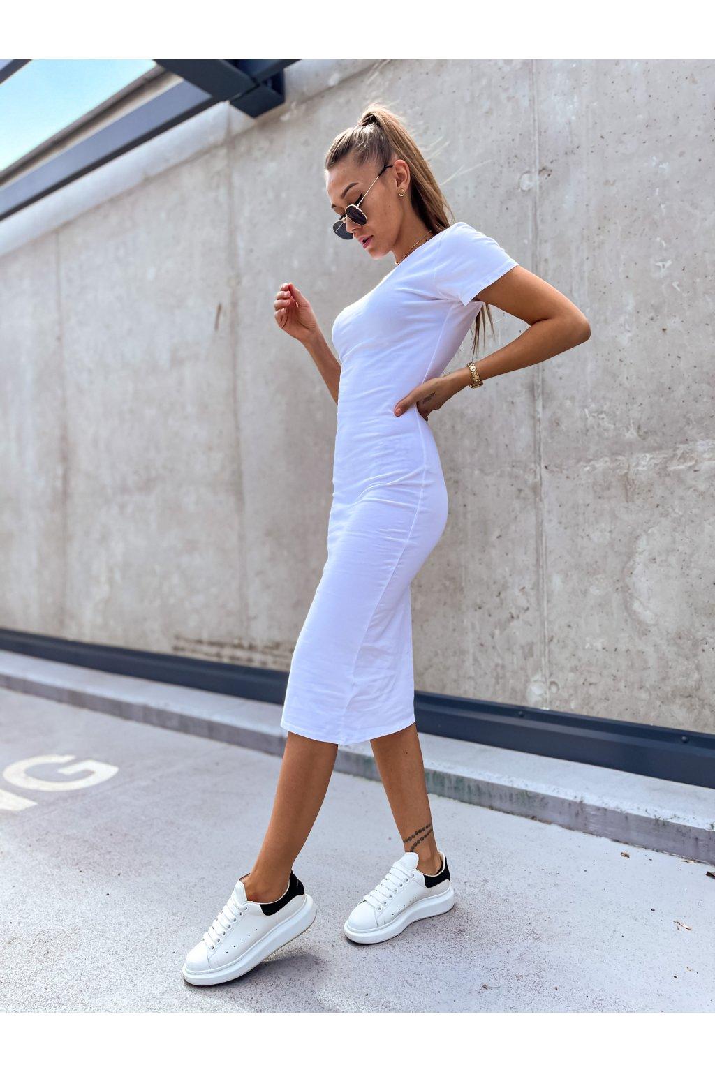 damske saty maxi short sleeve white eshopat cz 1