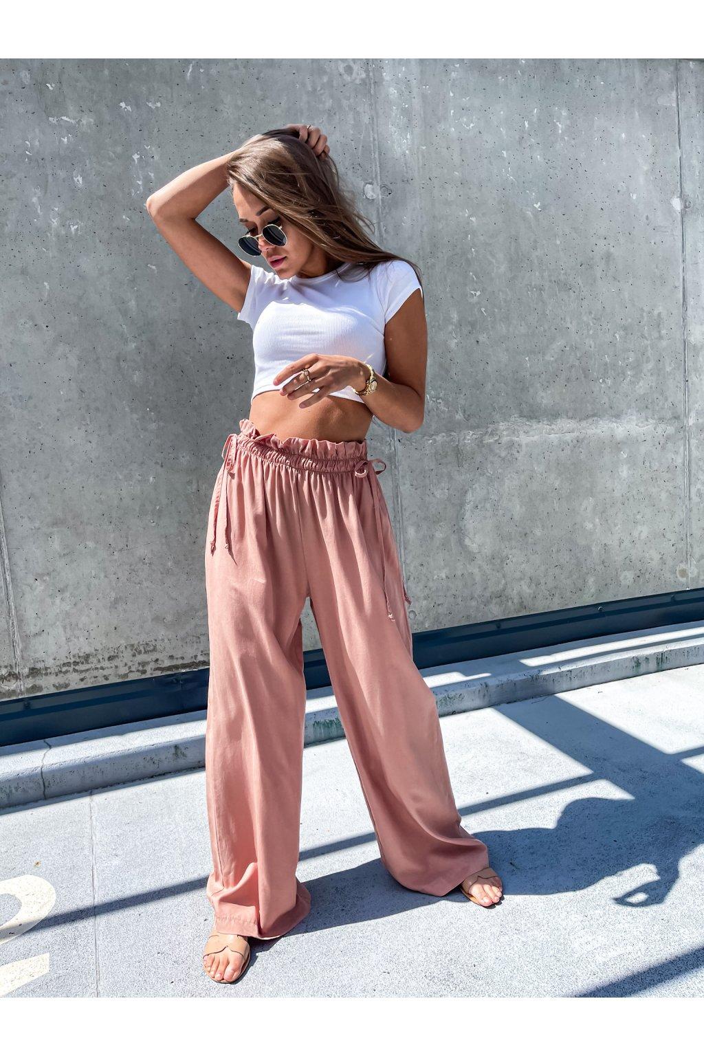 damske kalhoty amy powder pink eshopat cz 2